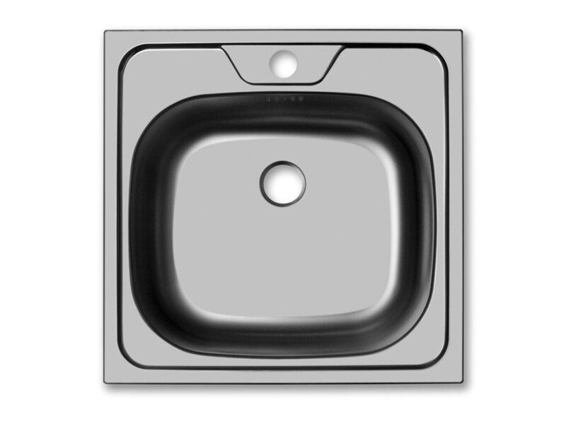 Врезная квадратная мойка 400 мм