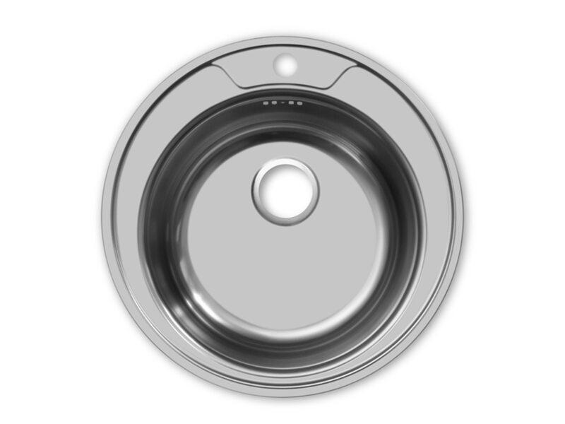 Врезная круглая мойка 370 мм