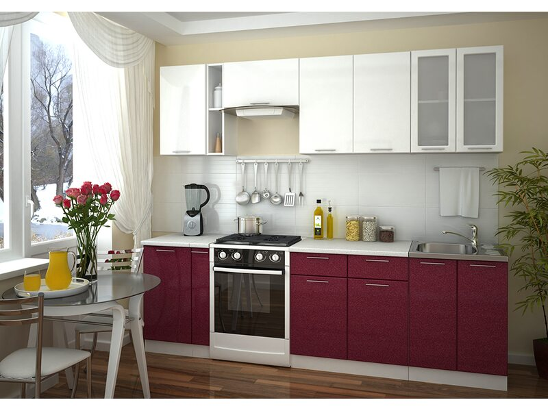 Модульная кухня Валерия-М длина 2.6 метра