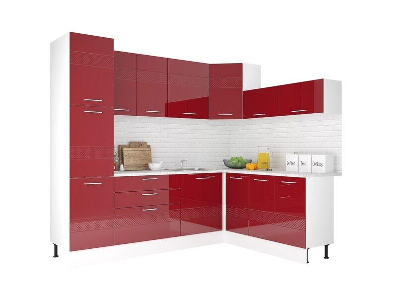 Кухня Люкс рубин глянец 2,5 метра
