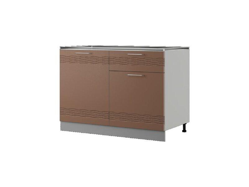 Шкаф напольный 120x82 см — кухня Мокко