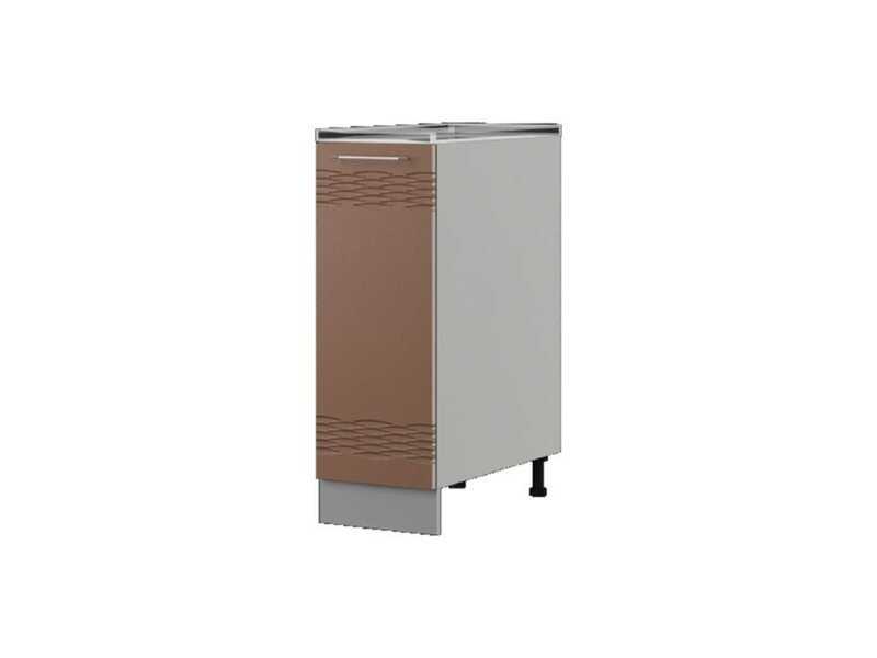 Шкаф напольный 30x82 см — кухня Мокко