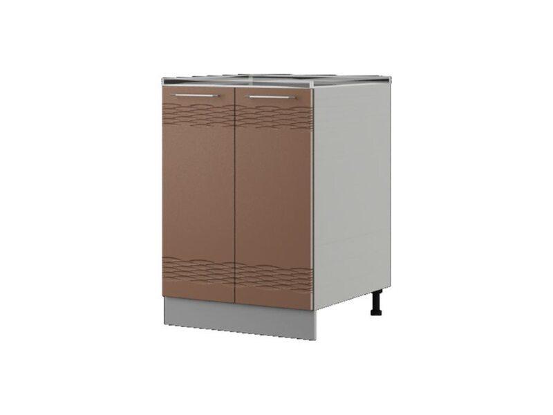 Шкаф напольный под мойку 60x82 см — кухня Мокко