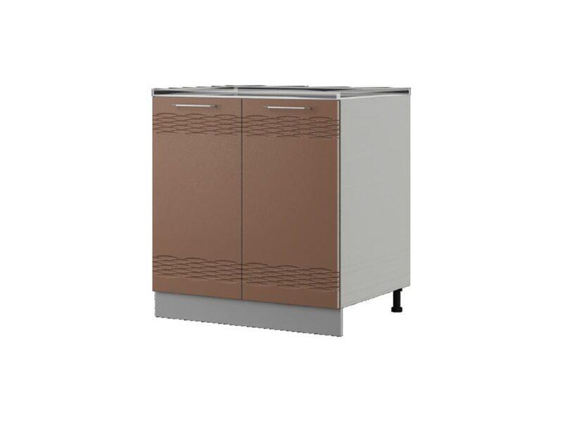 Шкаф напольный под мойку 80x82 см — кухня Мокко