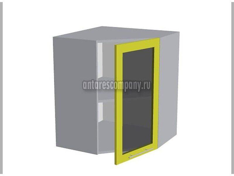 Шкаф навесной стекло угловой 580 мм (Палермо)
