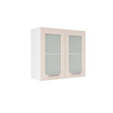 Навесной шкаф со стеклом на 800 мм (Виста)