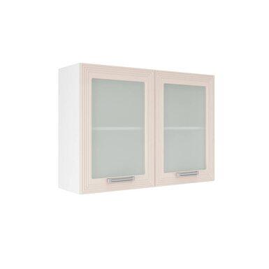 Навесной шкаф со стеклом на 1000 мм (Виста)
