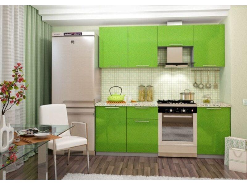 Кухня София 2.1 м (зеленая)