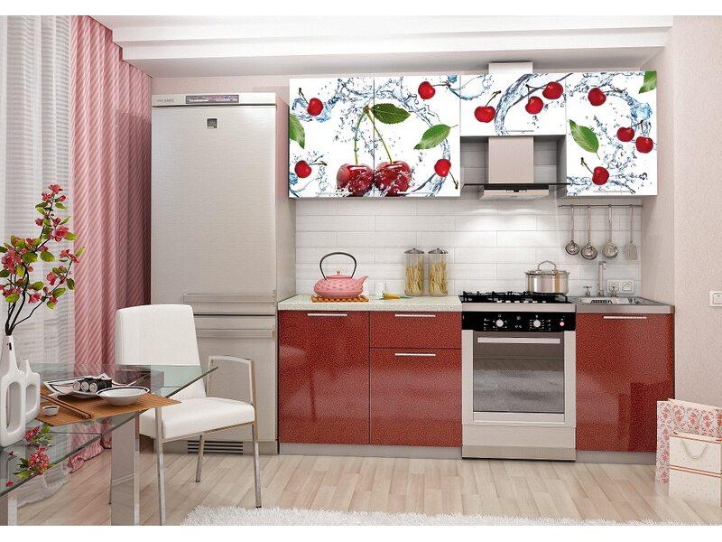 Кухня София 2.1 м (вишня)