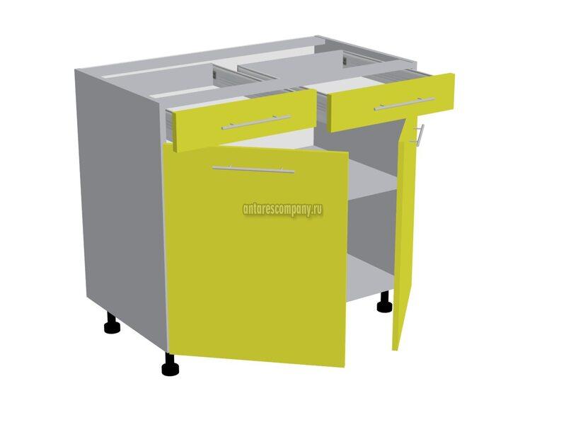 Рабочий стол 800 мм с 2-мя ящиками