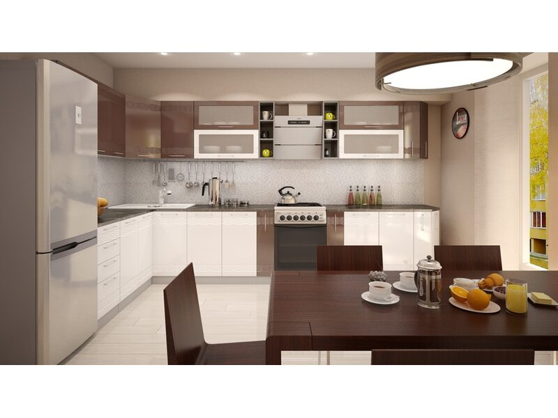 Кухня Мокко длина 3.4 метра, ширина 1.8 метра