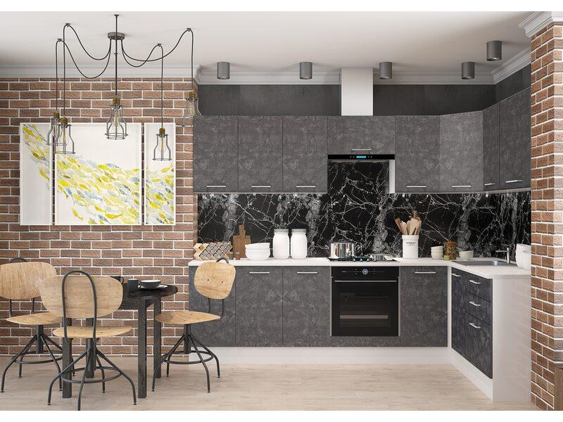 Кухня Лофт длина 2.8 метра, ширина 1.4 метра