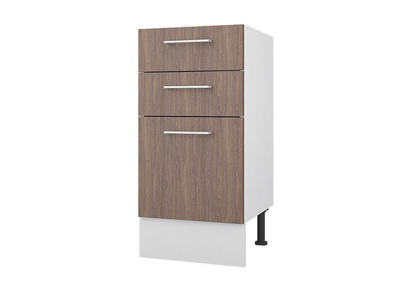 Стол 40 с 3-мя ящиками кухня Европа ширина 400 мм высота 840 мм