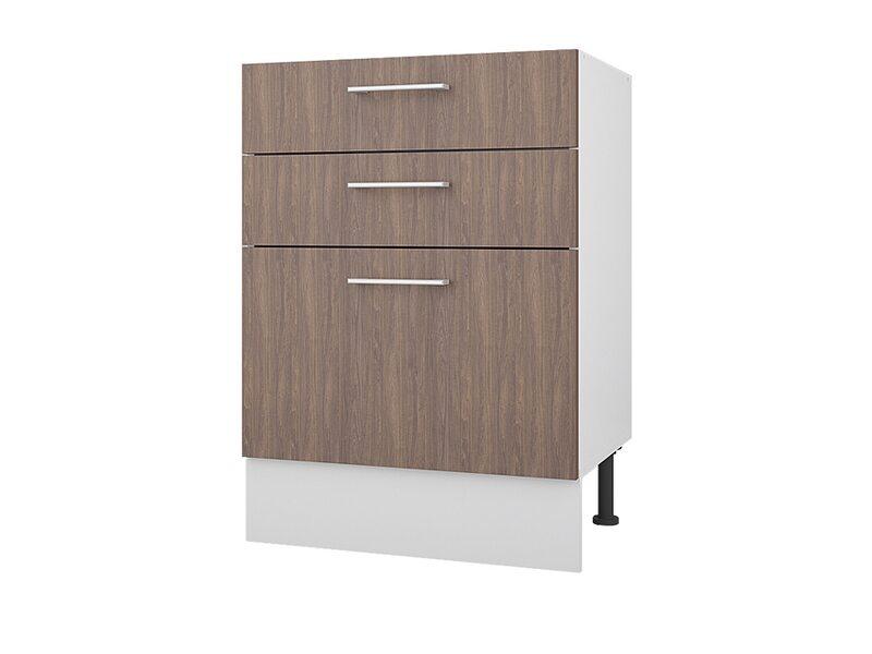 Стол 60 с 3-мя ящиками кухня Европа ширина 600 мм высота 840 мм