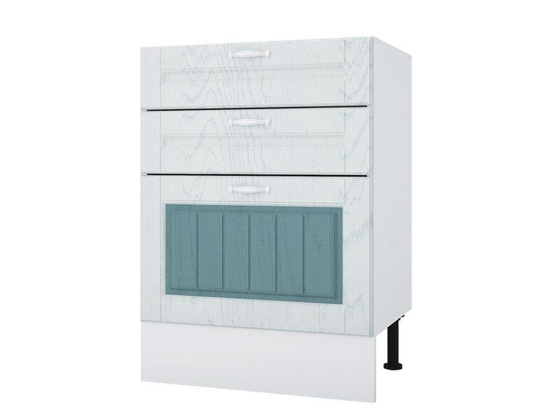 Стол 60 с 3-мя ящиками кухня Камелия ширина 600 мм высота 840 мм