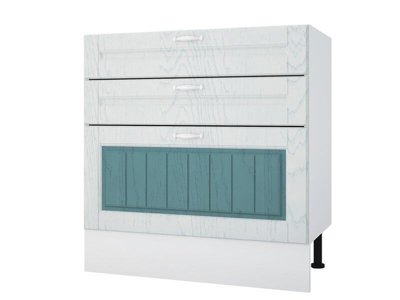 Стол 80 с 3-мя ящиками кухня Камелия ширина 800 мм высота 840 мм