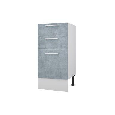 Стол 40 с 3-мя ящиками кухня Лофт ширина 400 мм высота 840 мм