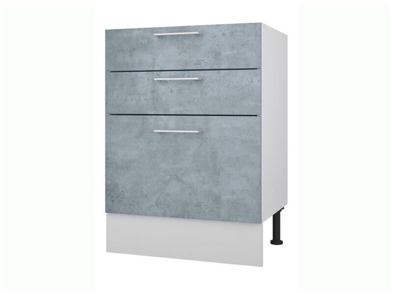 Стол 60 с 3-мя ящиками кухня Лофт ширина 600 мм высота 840 мм