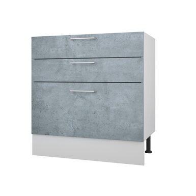 Стол 80 с 3-мя ящиками кухня Лофт ширина 800 мм высота 840 мм