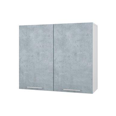 Шкаф двухдверный глухой кухня Лофт ширина 800 мм высота 700 мм