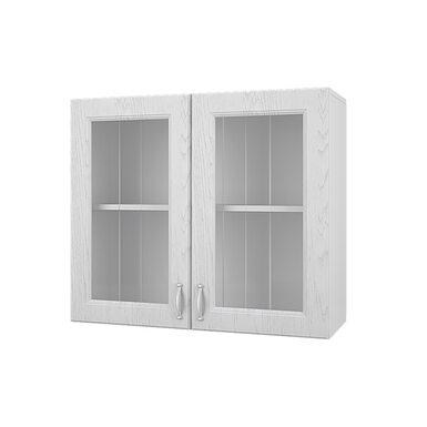 Шкаф двухдверный со стеклом кухня Принцесса ширина 800 мм высота 700 мм