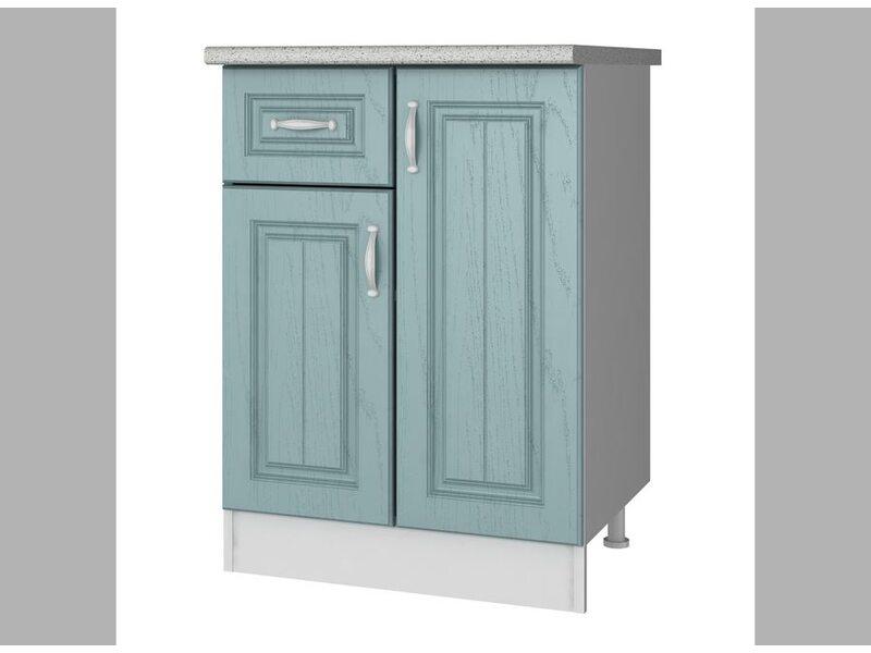 Стол комбинированный 1 ящик кухня Прованс ширина 600 мм высота 850 мм Модуль №31