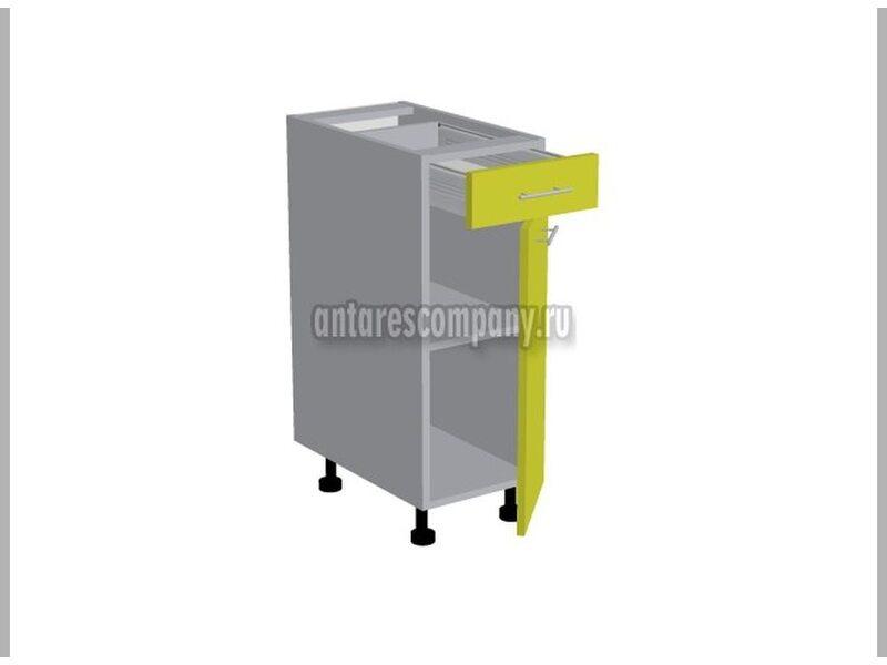 Стол однодверный 1 ящик кухня Базис Nicole-Wood ширина 300 мм высота 820 мм Модуль №92