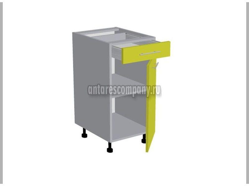 Стол однодверный 1 ящик кухня Базис Вудлайн ширина 300 мм высота 820 мм Модуль №92