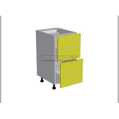 Стол 2 ящика метабокс кухня Базис Эко ширина 400 мм высота 820 мм Модуль №19