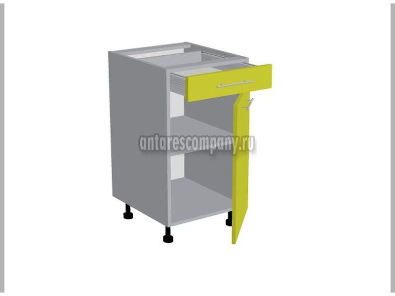 Стол однодверный 1 ящик кухня Базис Nicole ширина 400 мм высота 820 мм Модуль №151