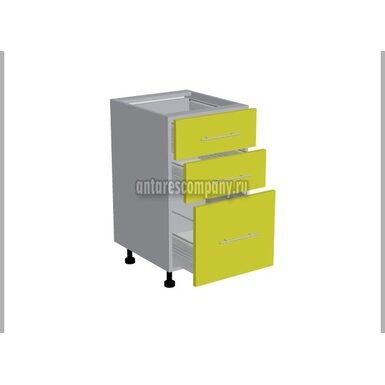 Стол 3 ящика кухня Базис Linewood ширина 450 мм высота 820 мм Модуль №108