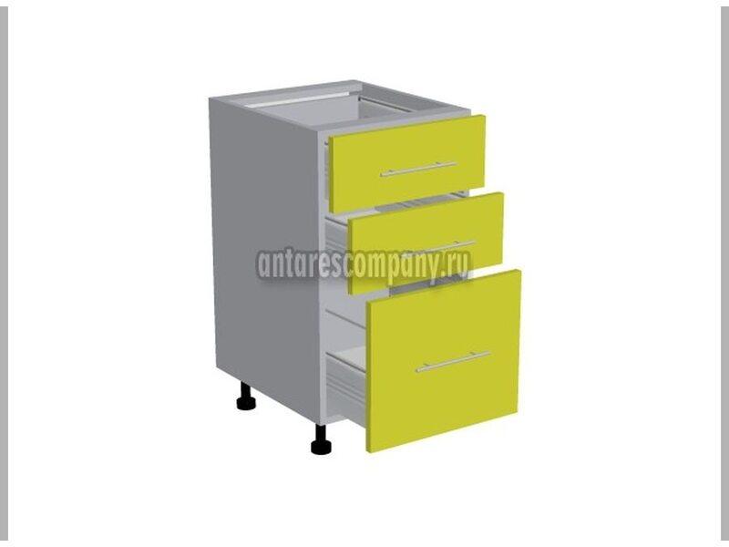 Стол 3 ящика кухня Базис Linecolor ширина 450 мм высота 820 мм Модуль №108