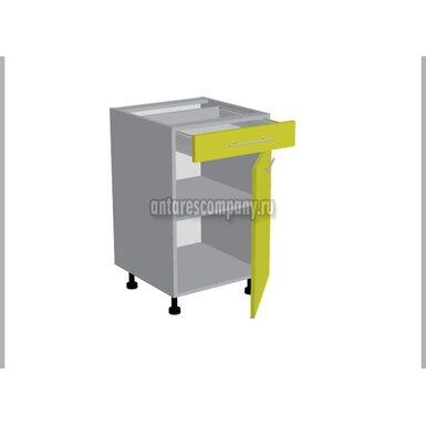 Стол однодверный 1 ящик кухня Базис Миксколор ширина 500 мм высота 820 мм Модуль №94