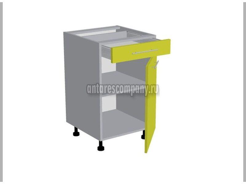 Стол однодверный 1 ящик кухня Базис-Классика ширина 500 мм высота 820 мм Модуль №94