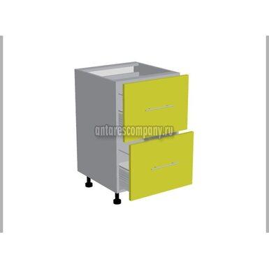 Стол 2 ящика метабокс кухня Базис Эко ширина 500 мм высота 820 мм Модуль №20
