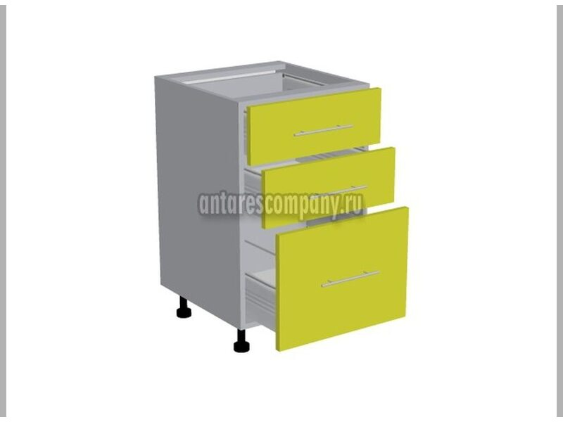 Стол 3 ящика метабокс кухня Базис Эко ширина 500 мм высота 820 мм Модуль №15