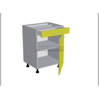 Стол однодверный 1 ящик кухня Базис Миксколор ширина 600 мм высота 820 мм Модуль №95