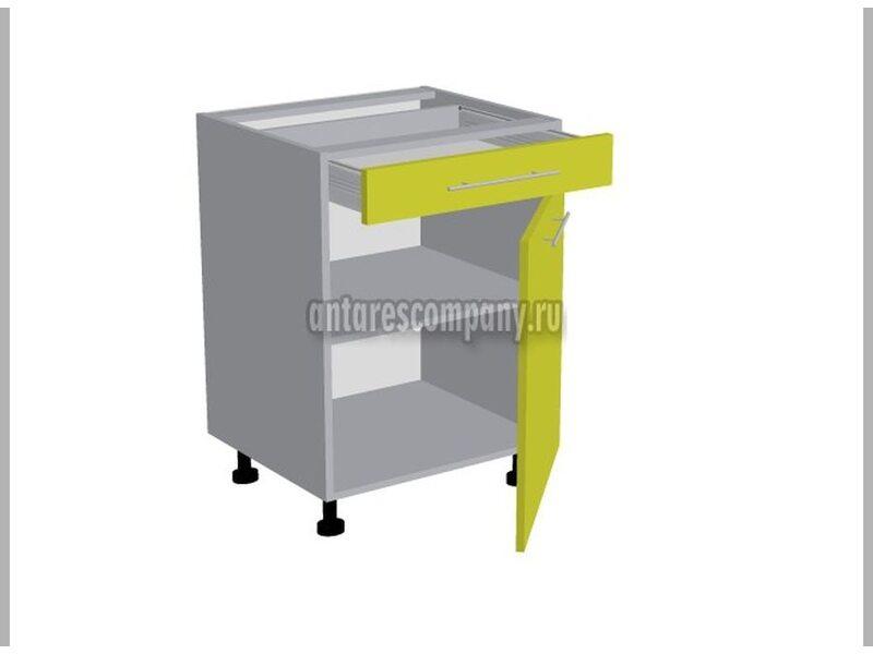 Стол однодверный 1 ящик кухня Базис-Классика ширина 600 мм высота 820 мм Модуль №95
