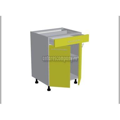 Стол двухдверный 1 ящик кухня Базис Linewood ширина 600 мм высота 820 мм Модуль №96