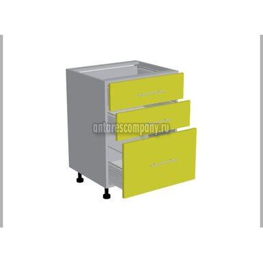 Стол 3 ящика кухня Базис Linewood ширина 600 мм высота 820 мм Модуль №109
