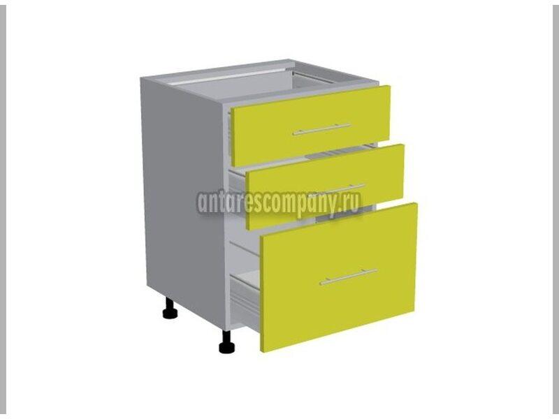 Стол 3 ящика кухня Базис ширина 600 мм высота 820 мм Модуль №109