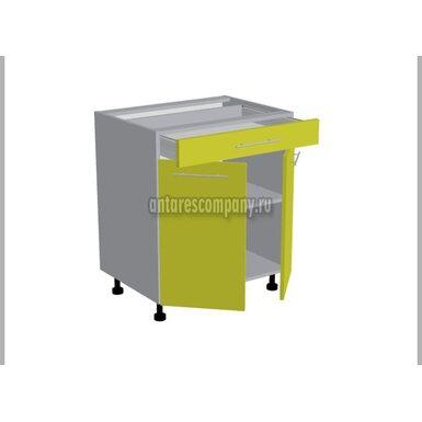 Стол двухдверный 1 ящик кухня Базис Linewood ширина 700 мм высота 820 мм Модуль №97