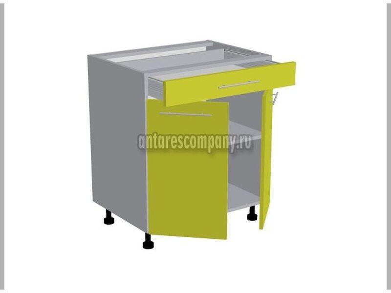 Стол двухдверный 1 ящик кухня Базис ширина 700 мм высота 820 мм Модуль №97