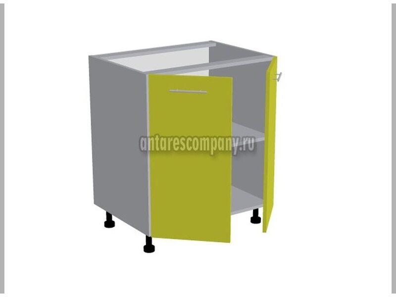 Стол двухдверный кухня Базис Nicole-Mix ширина700 мм высота 820 мм Модуль №89