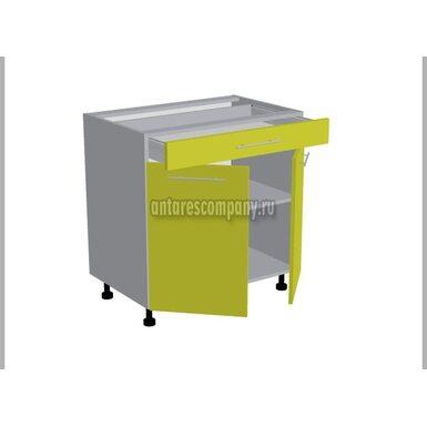 Стол двухдверный 1 ящик кухня Базис Linewood ширина 800 мм высота 820 мм Модуль №98