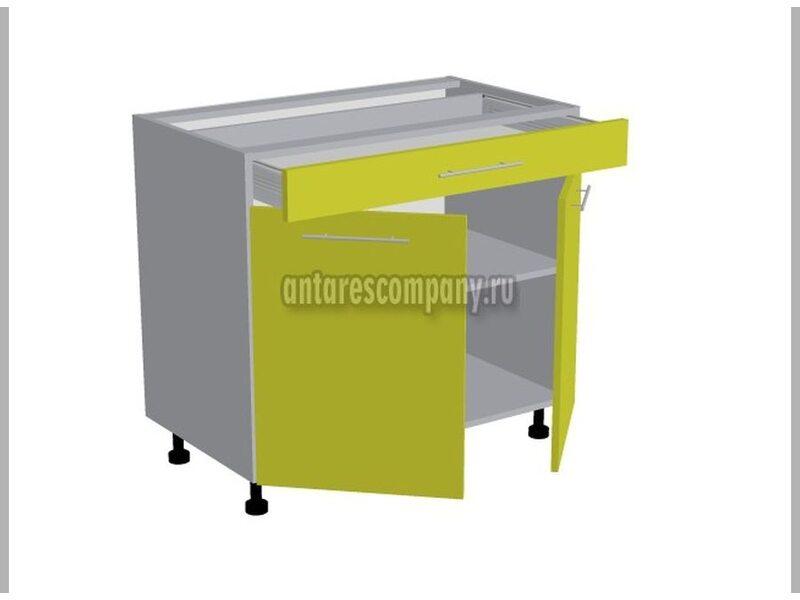 Стол двухдверный 1 ящик кухня Базис Вудлайн ширина 900 мм высота 820 мм Модуль №99