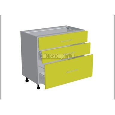 Стол 3 ящика кухня Базис Linewood ширина 900 мм высота 820 мм Модуль №111
