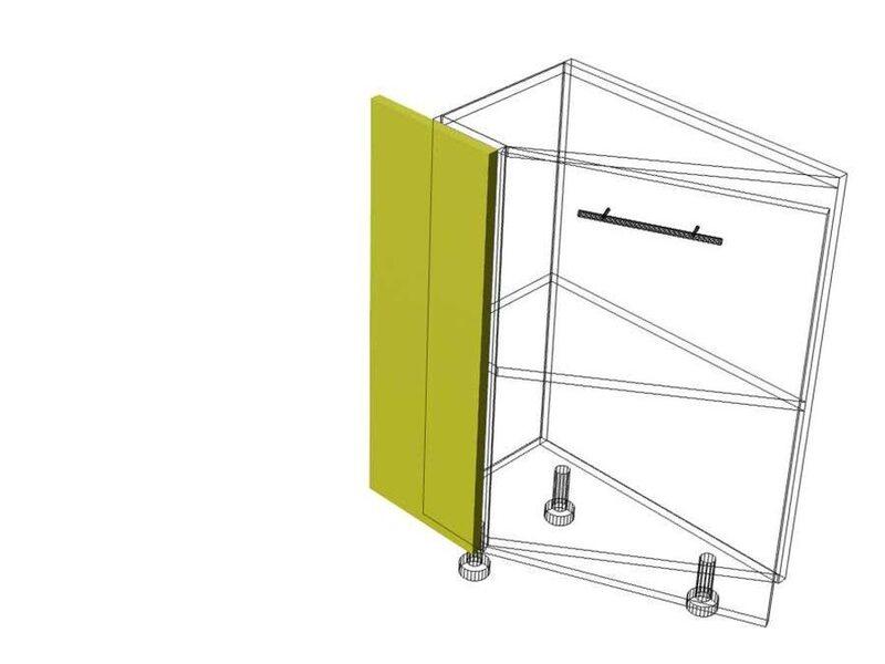 Накладка на скошенный стол кухня Базис Миксколор высота 720 мм глубина 240 мм
