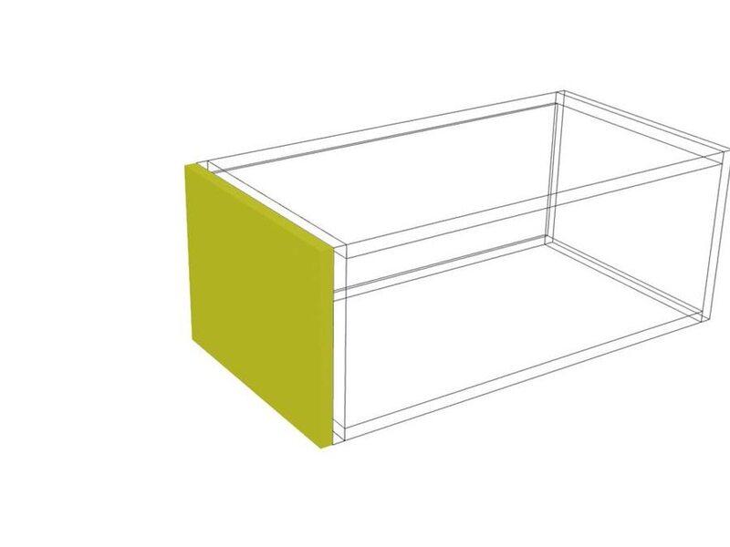 Накладка на бок верх 24 кухня Мишель высота 240 мм глубина 315 мм