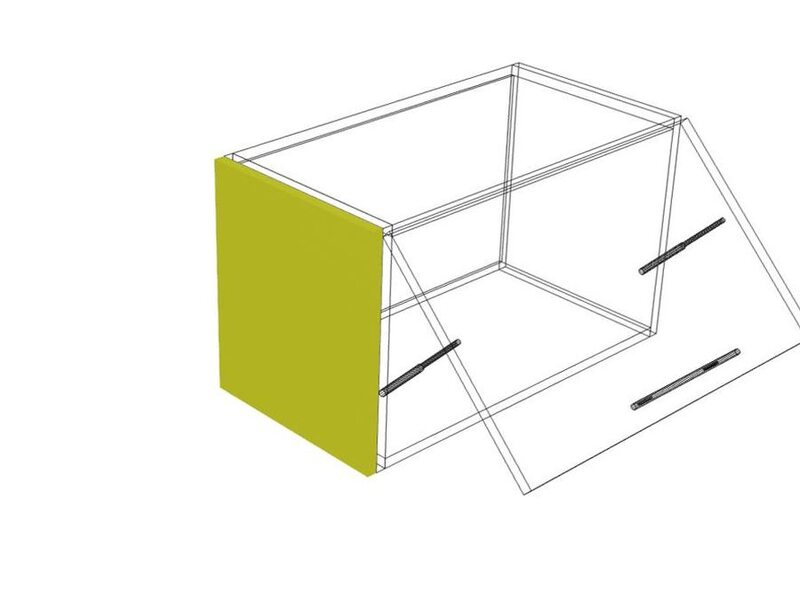 Накладка на бок верх 36 кухня Базис Вудлайн высота 360 мм глубина 315 мм